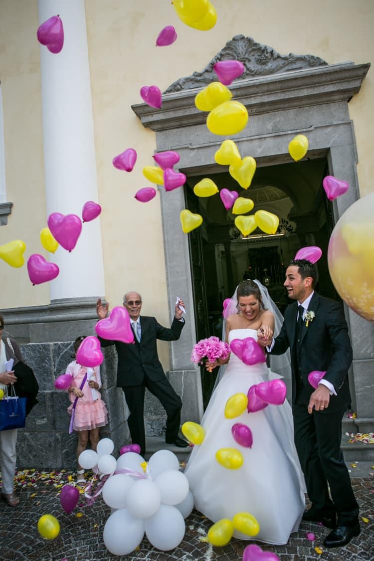 Matrimonio fucsia e giallo