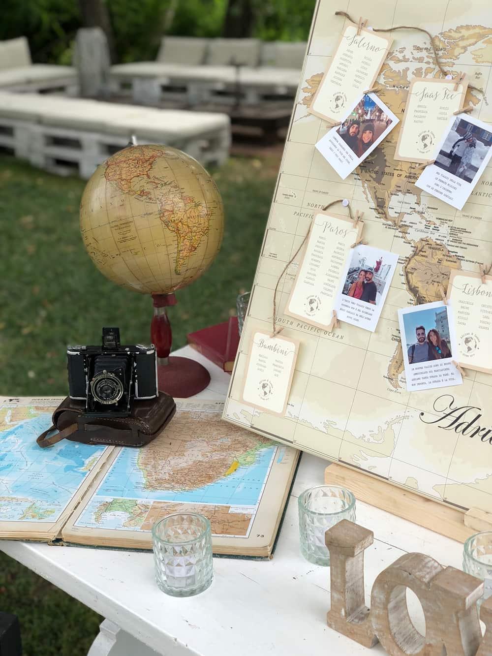 tableau matrimonio tema viaggio