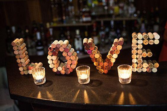 candele con tappi