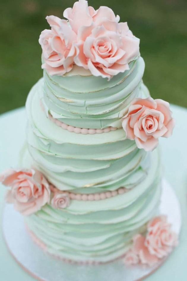 torta colore menta