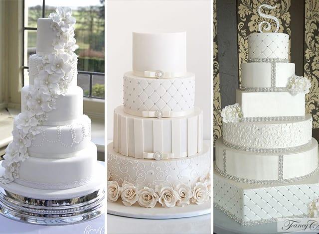 torte matrimonio bianco su bianco