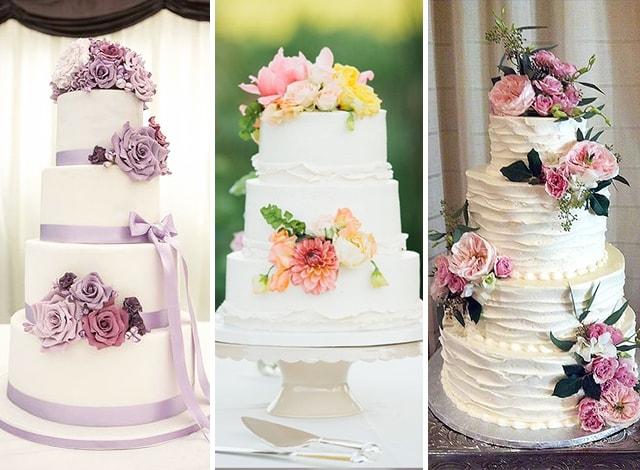 torte matrimonio fiori