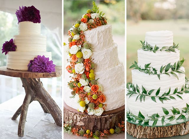 torte matrimonio legno