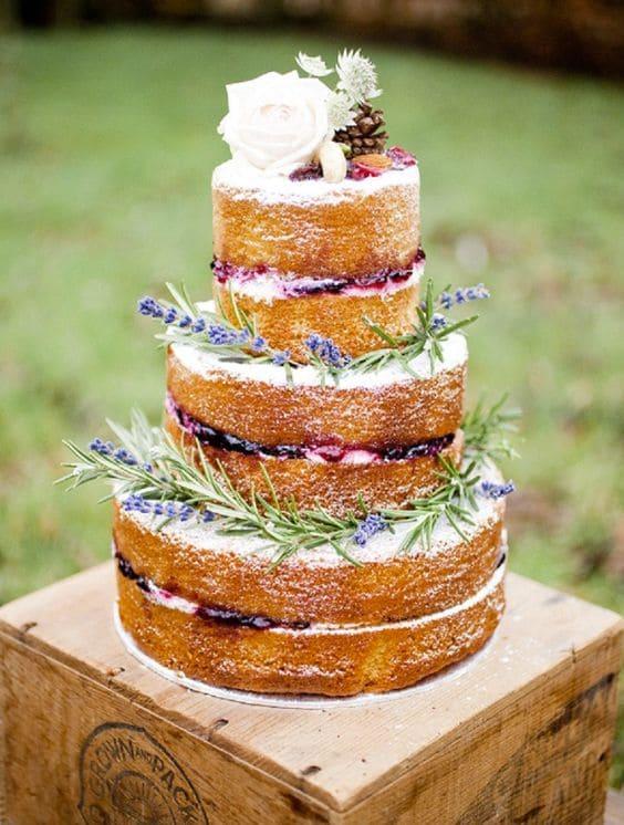 torta nuziale lavanda