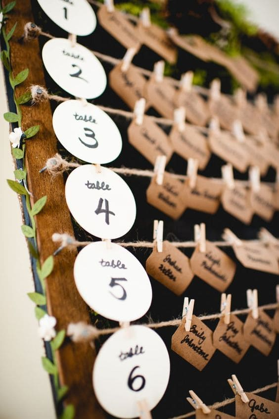 escort card matrimonio