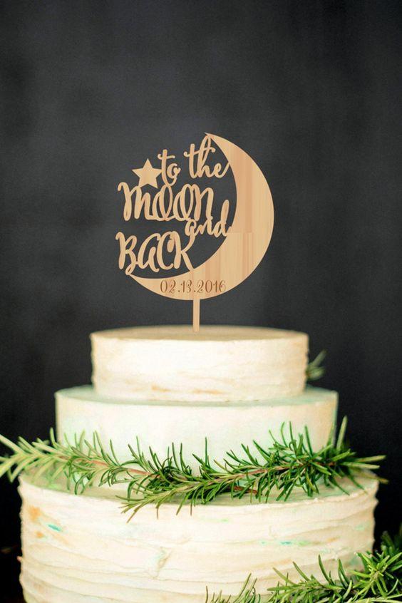 cake topper legno