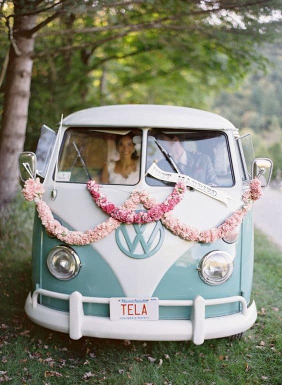 furgoncino volkswagen matrimonio