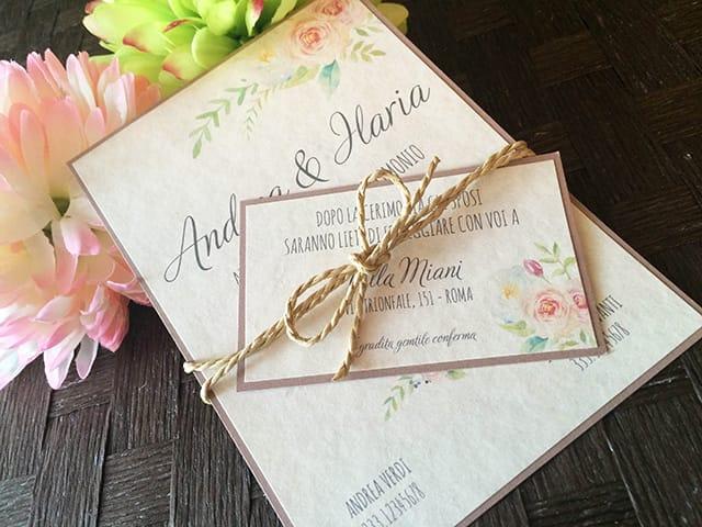 partecipazioni matrimonio tema botanico