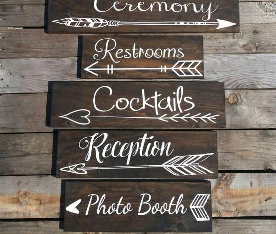 segnaletica legno matrimonio