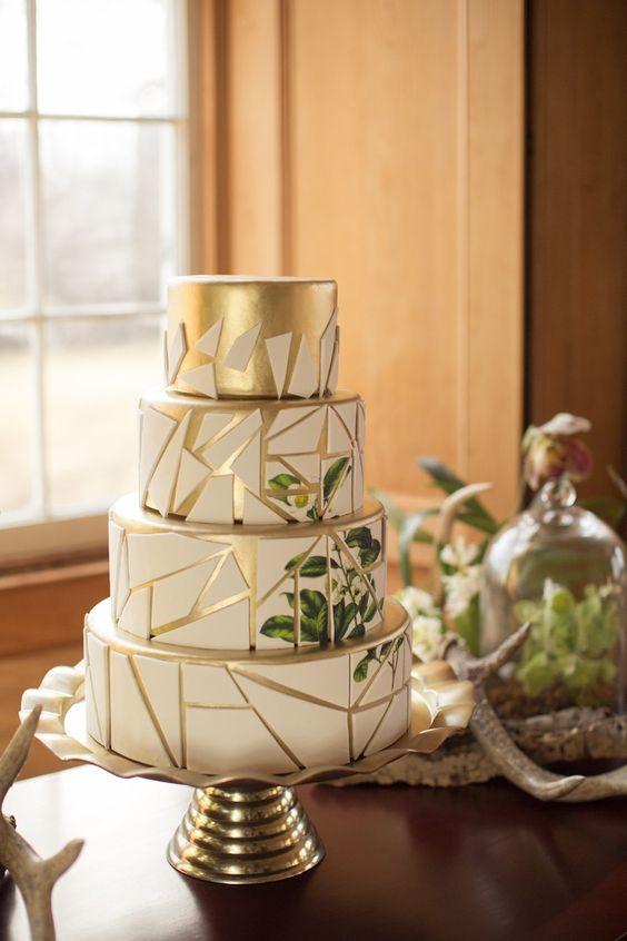 torta nuziale botanica