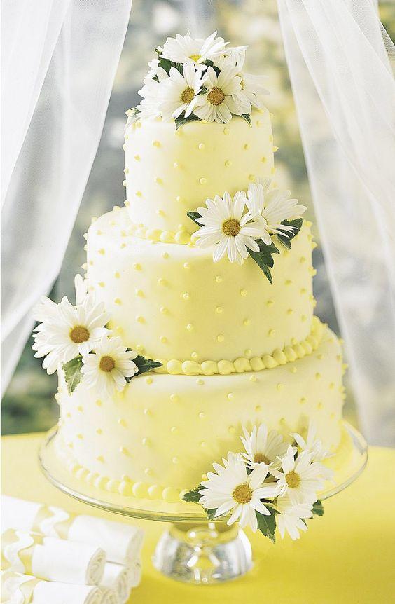 torta nuziale margherite