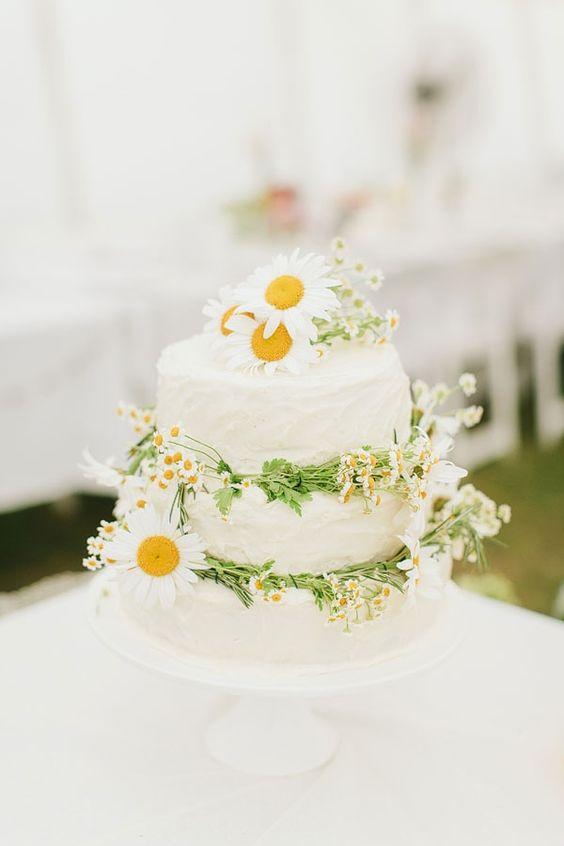 Torte Matrimonio Girasoli : Matrimonio tema margherite: consigli e idee originali