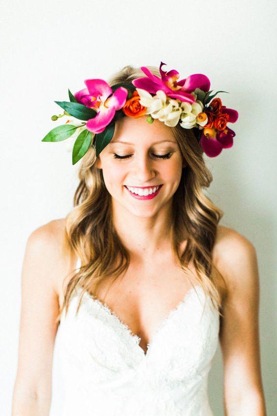 corona fiori tropicali