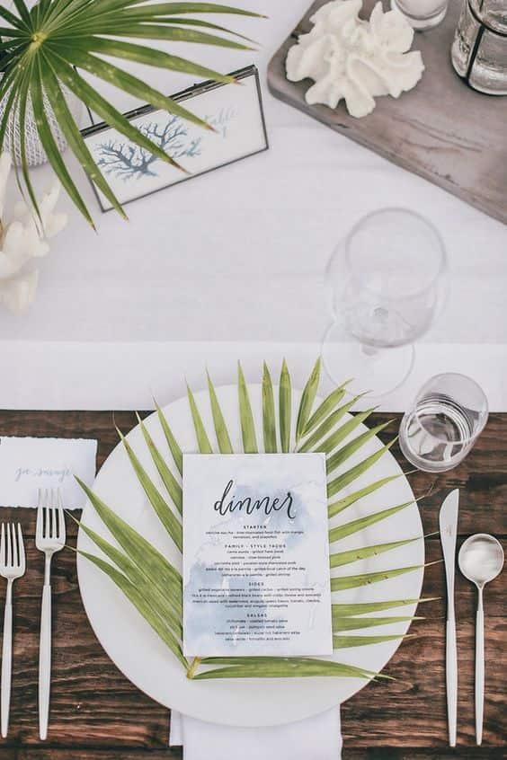 menu tropicale