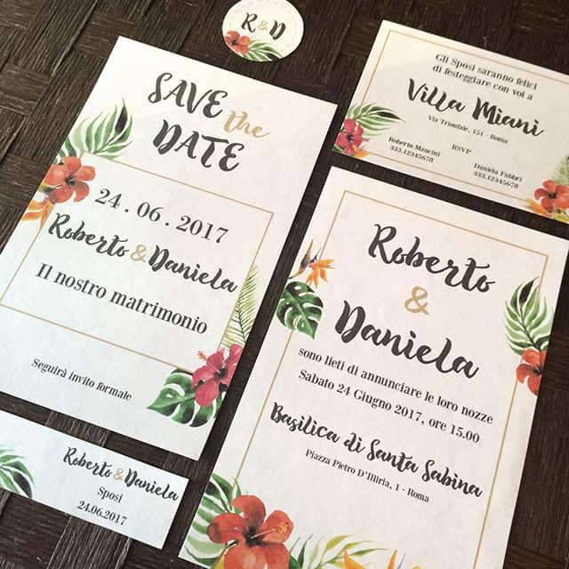 partecipazioni matrimonio tropicali