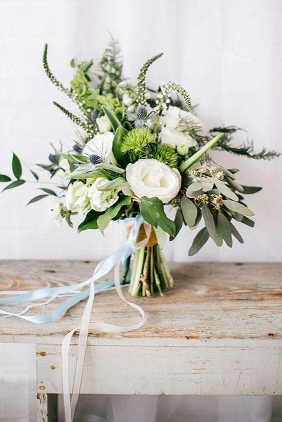 bouquet greenery