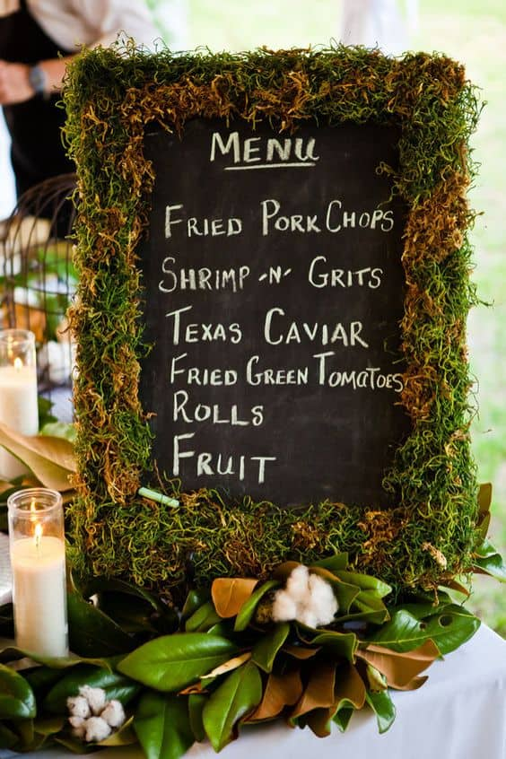 rustic-moss-wedding-sign-decor-ideas-min