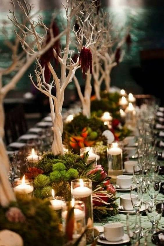 rustic-woodland-Moss-Wedding-Table-Decor-Ideas-min