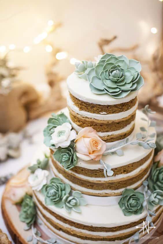 torta matrimonio piante grasse