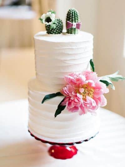 torta nuziale cactus