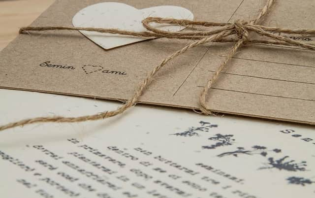 partecipazioni matrimonio carta germoglia