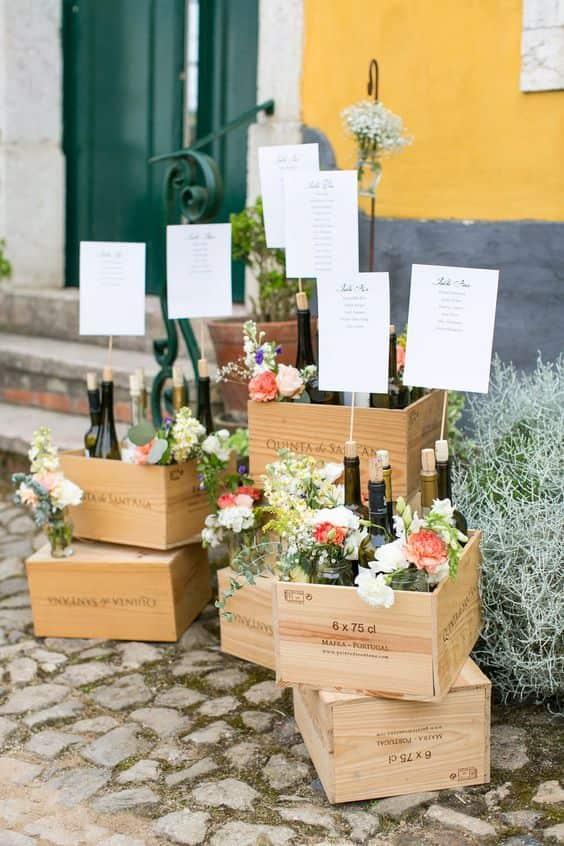 Tableau Matrimonio Rustico : Cassette della frutta idee su come utilizzarle e decorare