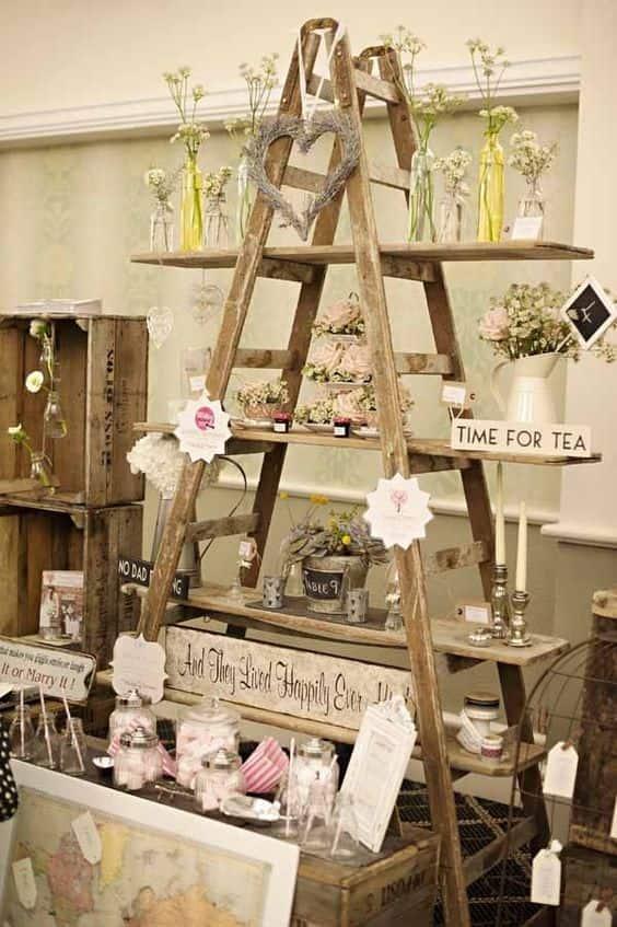 Favorito Scaletta in legno: 5 idee e consigli per un matrimonio in stile  BB63
