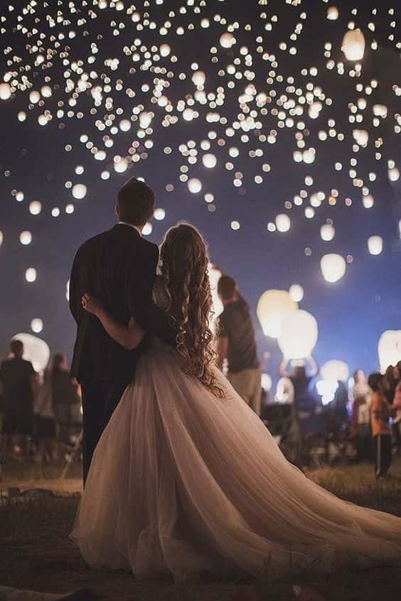 lancio palloncini led matrimonio