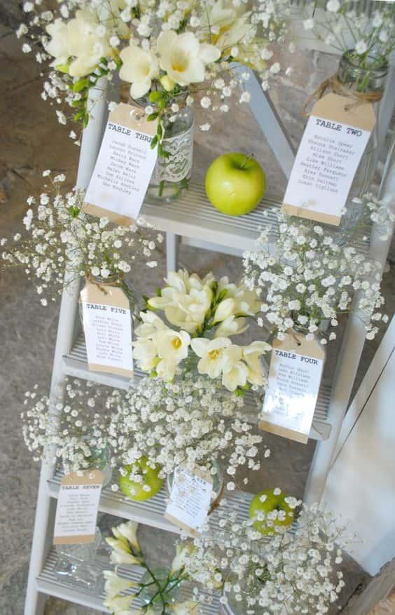 Tableau Matrimonio In Legno : Scaletta in legno idee e consigli per un matrimonio