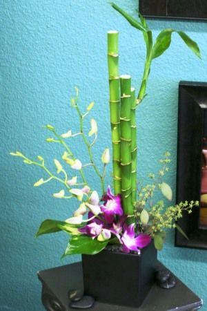 centrotavola con bamboo