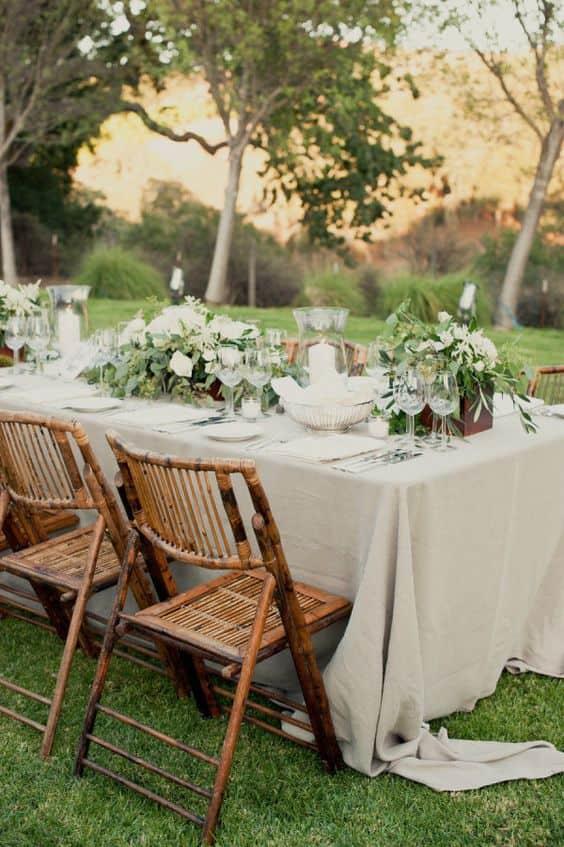 sedie matrimonio in bamboo