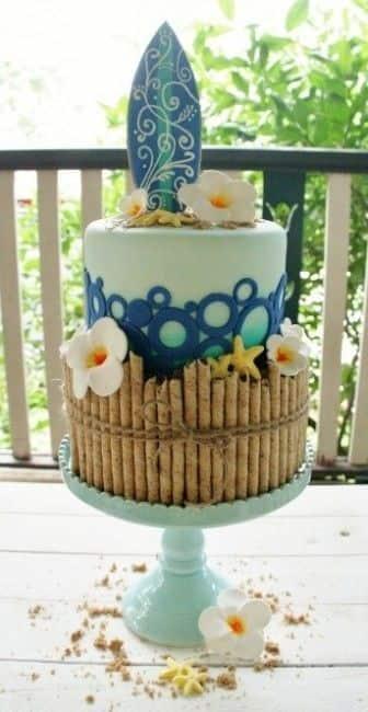 torta matrimonio tropicale
