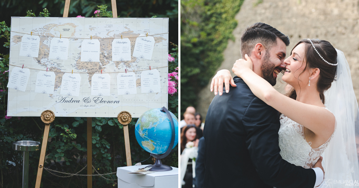 Matrimonio Tema Viaggio Frasi : Un matrimonio a tema viaggio la storia di andrea e eleonora