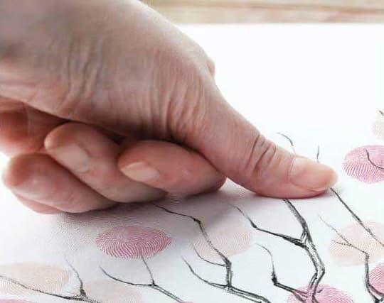 fingerprint guestbook