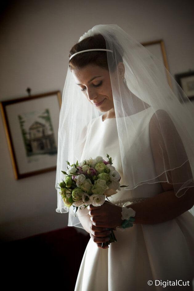 Silvia con bouquet