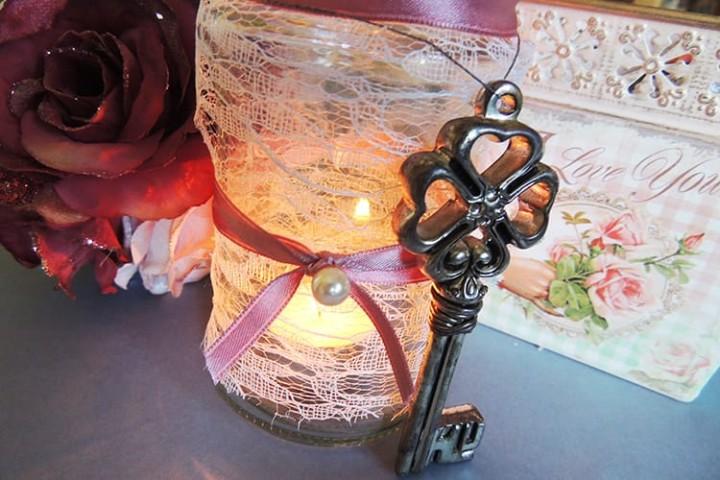 porta candela vintage