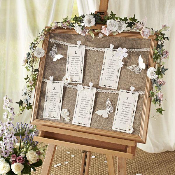 Vintage Wedding Table Plan Ideas: Tableau De Mariage: Idee Creative Ed Originali