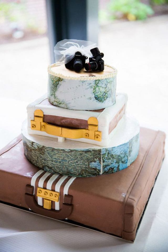 travel themed wedding cakes matrimonio tema viaggio idee e ispirazioni originali 21242