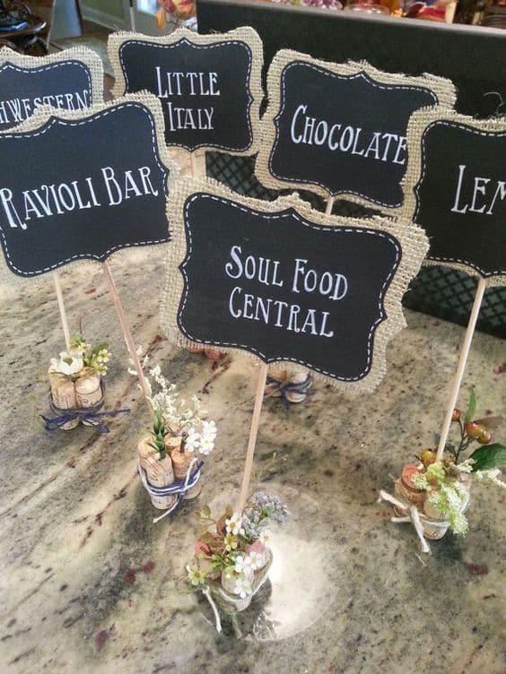 nomi tavolo cibo
