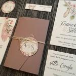 partecipazioni matrimonio bohemien
