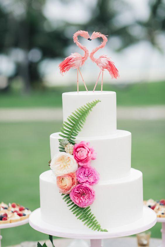 torta nuziale tropicale