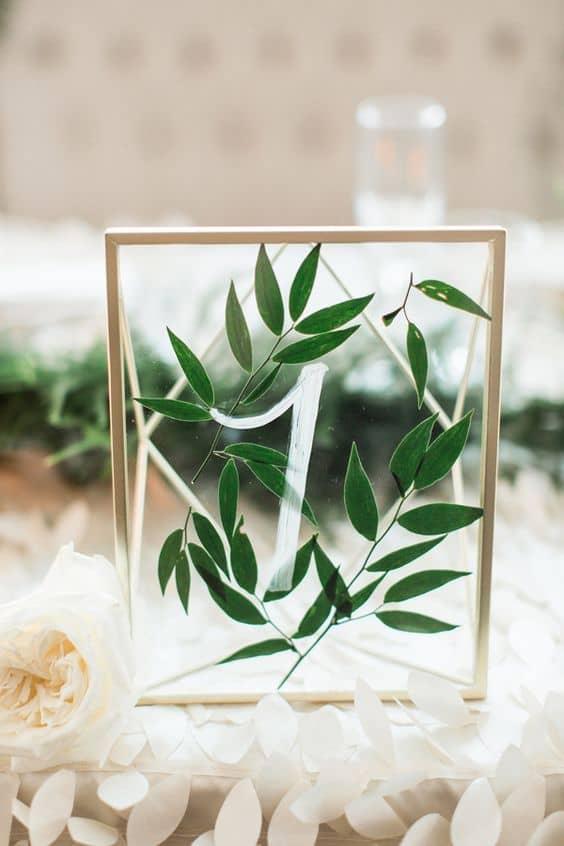 segnatavolo matrimonio verde