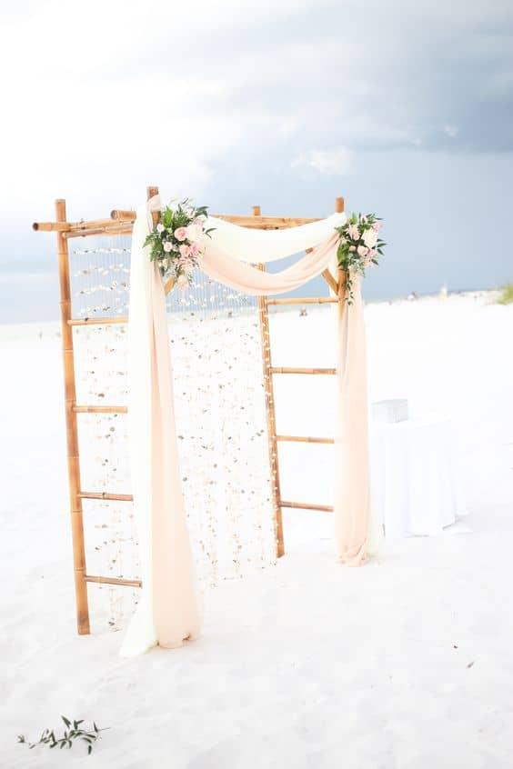arco di bamboo matrimonio