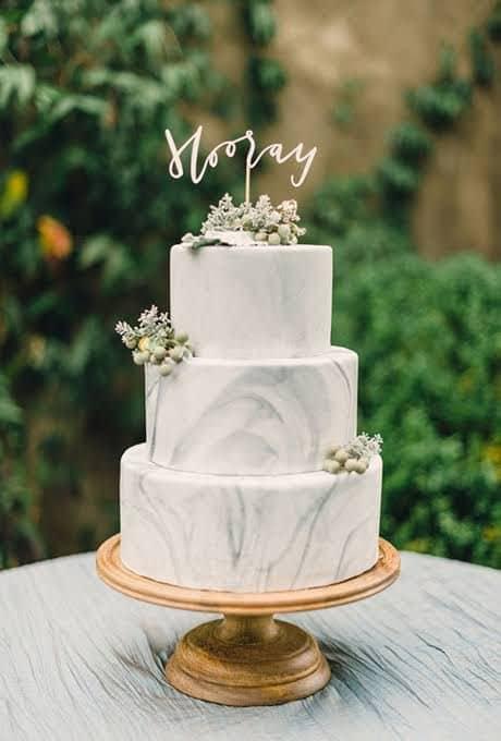 torta nuziale marmo